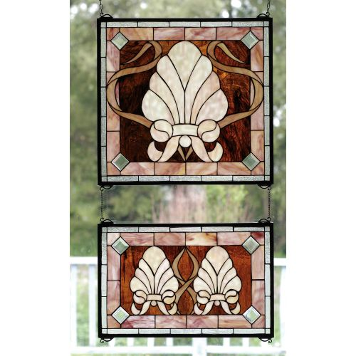 Meyda Tiffany 71270 Stained Glass Tiffany Window from the Seashore Collection