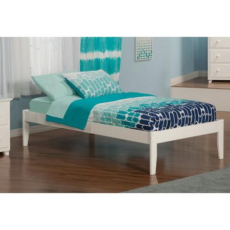 Atlantic Furniture Concord White Twin Open Foot