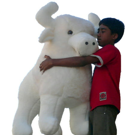 Sacred White Buffalo (American Made Giant Stuffed White Buffalo 44 Inch Plush Animal Almost 4 Feet Wide and 3 Feet Tall Huge Stuffed)