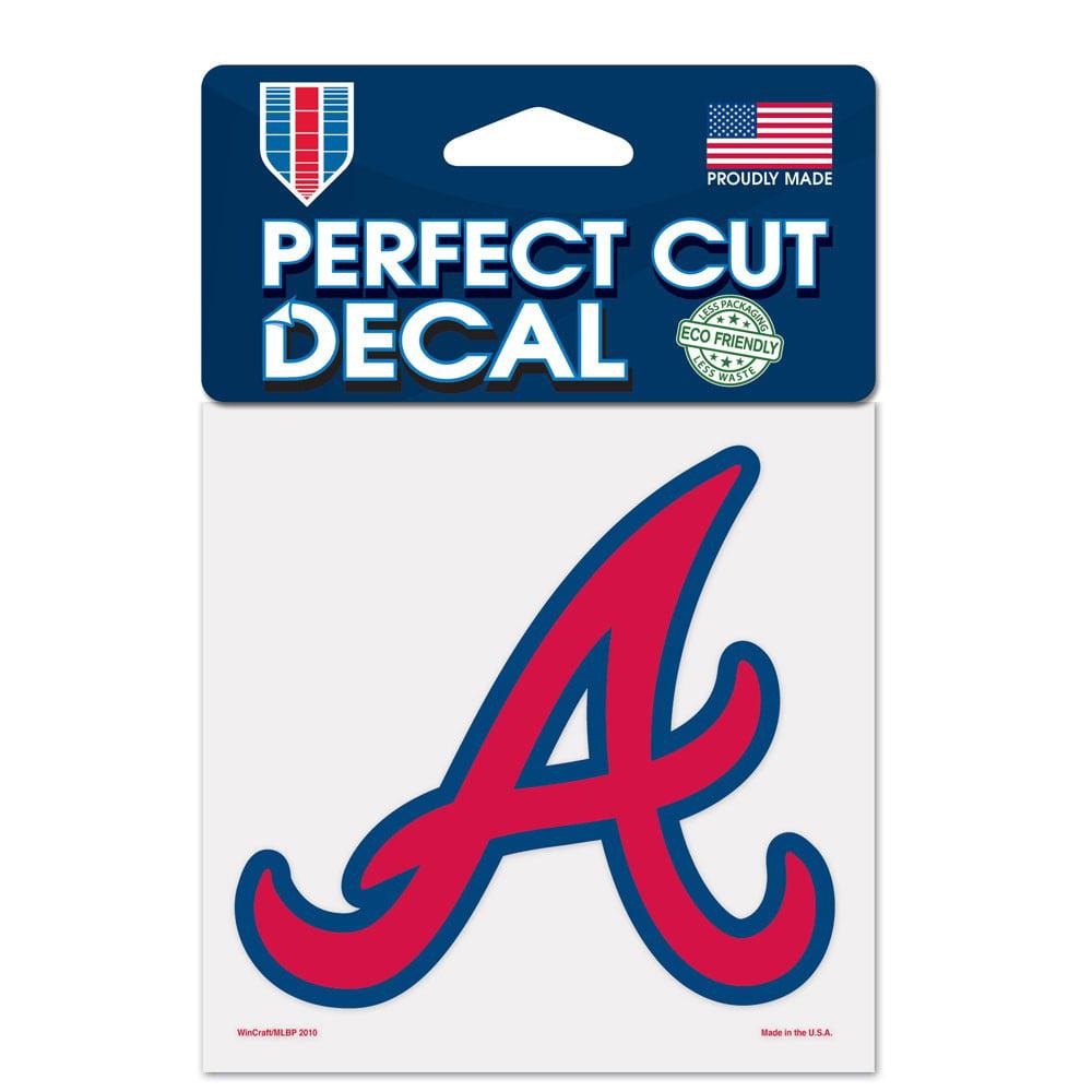 Atlanta Braves Official MLB 4 inch x 4 inch  Die Cut Car Decal by Wincraft