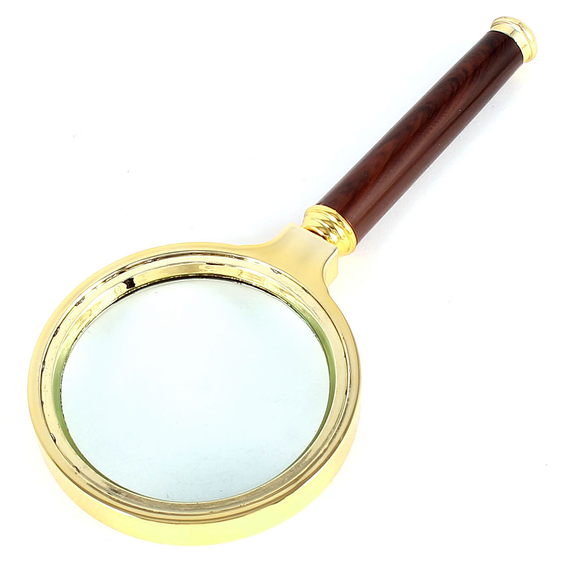 Detachable Grip 70mm Diameter 4X Clear Optical Lens Magnifying Glass Metal