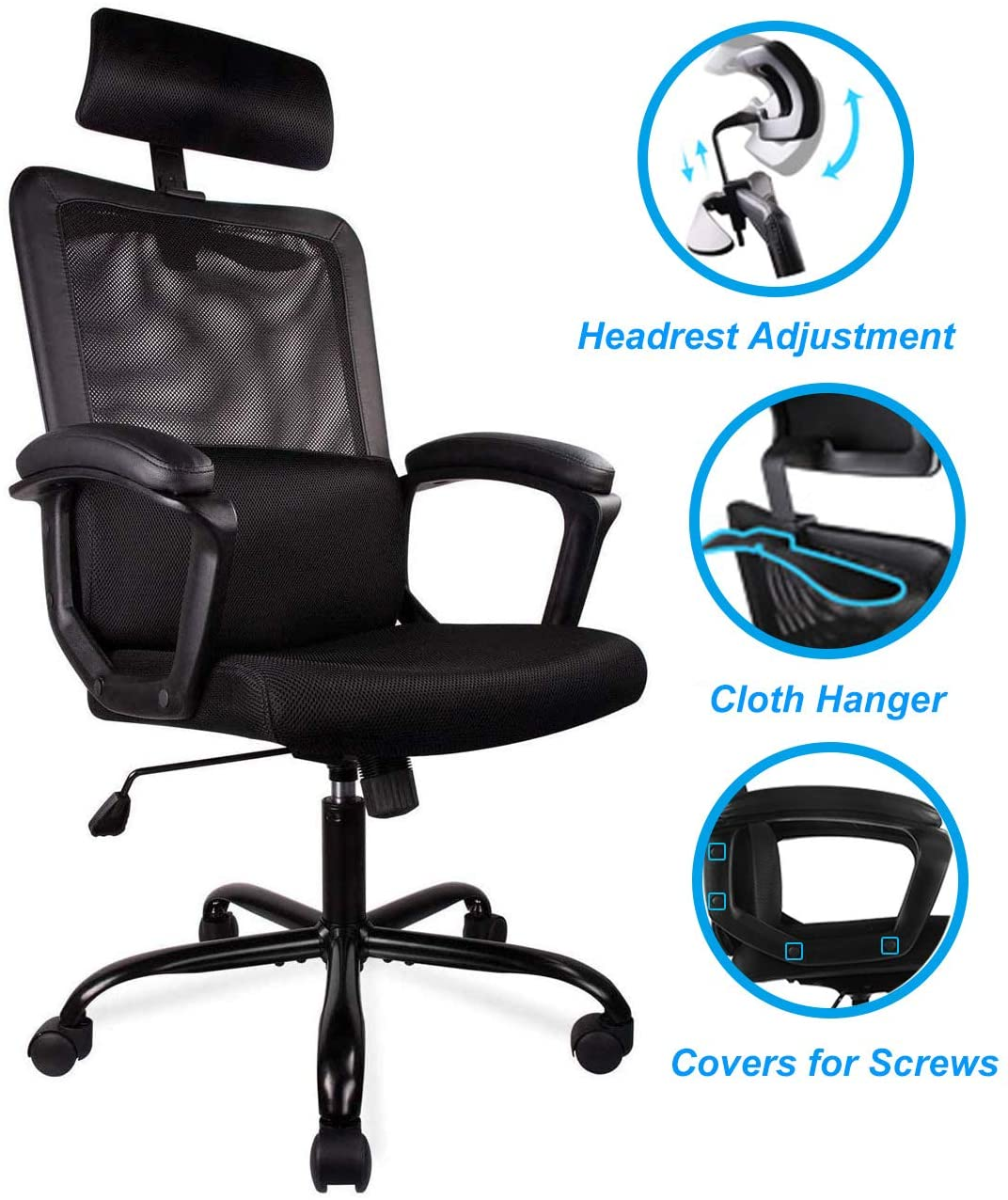 SMUGDESK Office Desk Chair Wheels 5 Packs