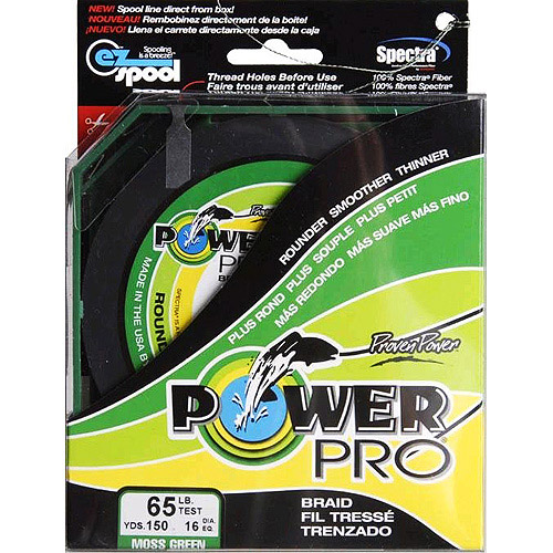 Power Pro Fishing Line - Moss Green, 150 yards, 65 lbs