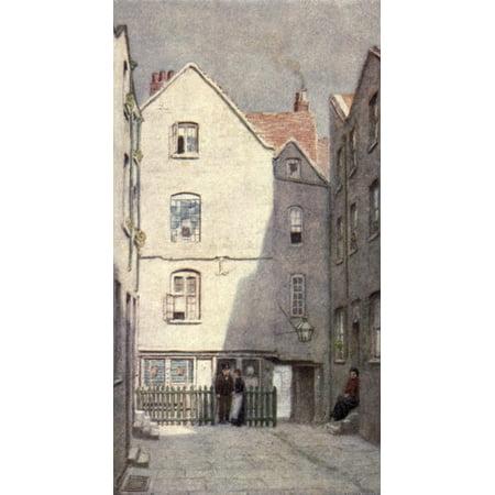 Norman One Light - London Vanished & Vanishing 1905 Green Dragon Tavern St Andrews Hill Canvas Art - Philip Norman (24 x 36)