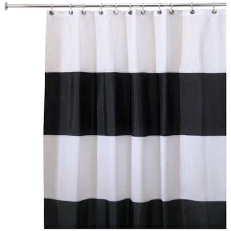 Interdesign 26930 Zeno Waterproof Fabric Shower Curtain - 72 x 84 in.