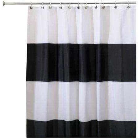 Interdesign 26930 Zeno Waterproof Fabric Shower Curtain 72 X 84 In