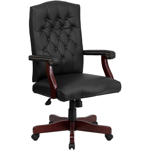 Flash Furniture Martha Washington Leather Executive Swivel Chair
