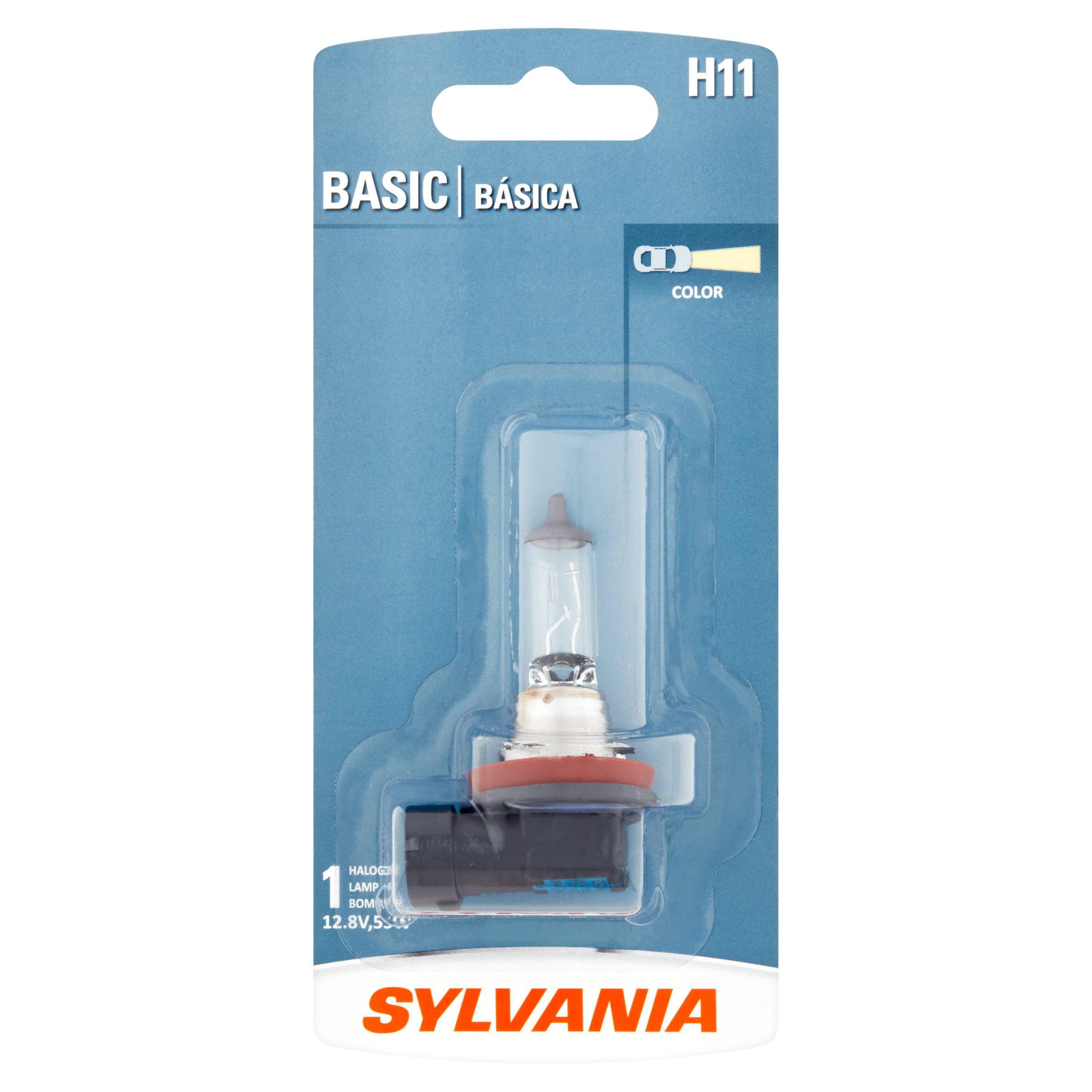 Sylvania H11 Basic Halogen Headlight Bulb, Pack of 1