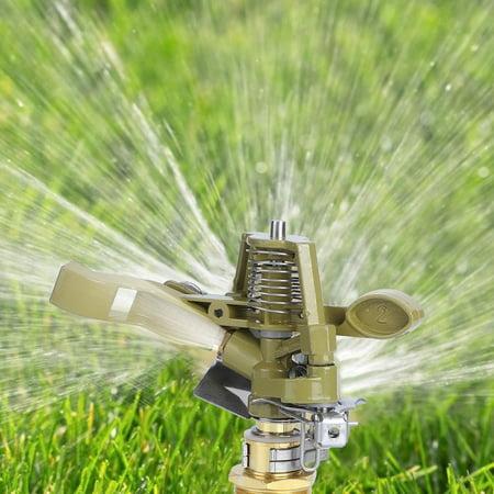 Kritne Aluminium Alloy Spray, G3/4inch Aluminium Alloy Garden Lawn Rocker Arm Irrigation Nozzle Water Spray Sprinkler Head , Irrigation Nozzle