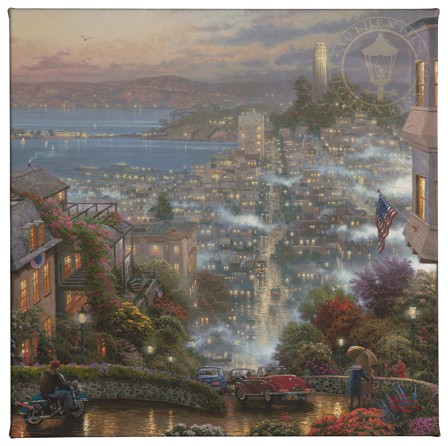 Thomas Kinkade Sound of Music  14 x 14 Gallery Wrap Canvas
