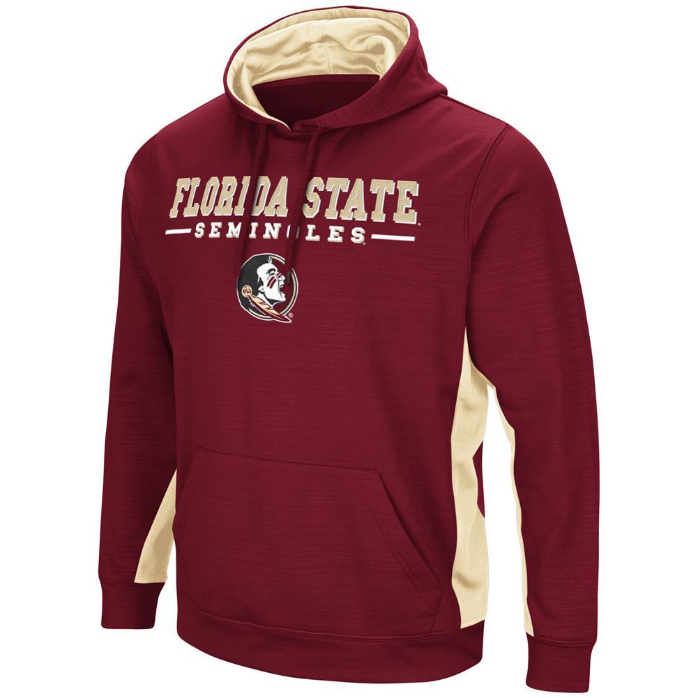 FSU Florida State University Hoodie Performance Fleece Pullover Jacket by Colosseum