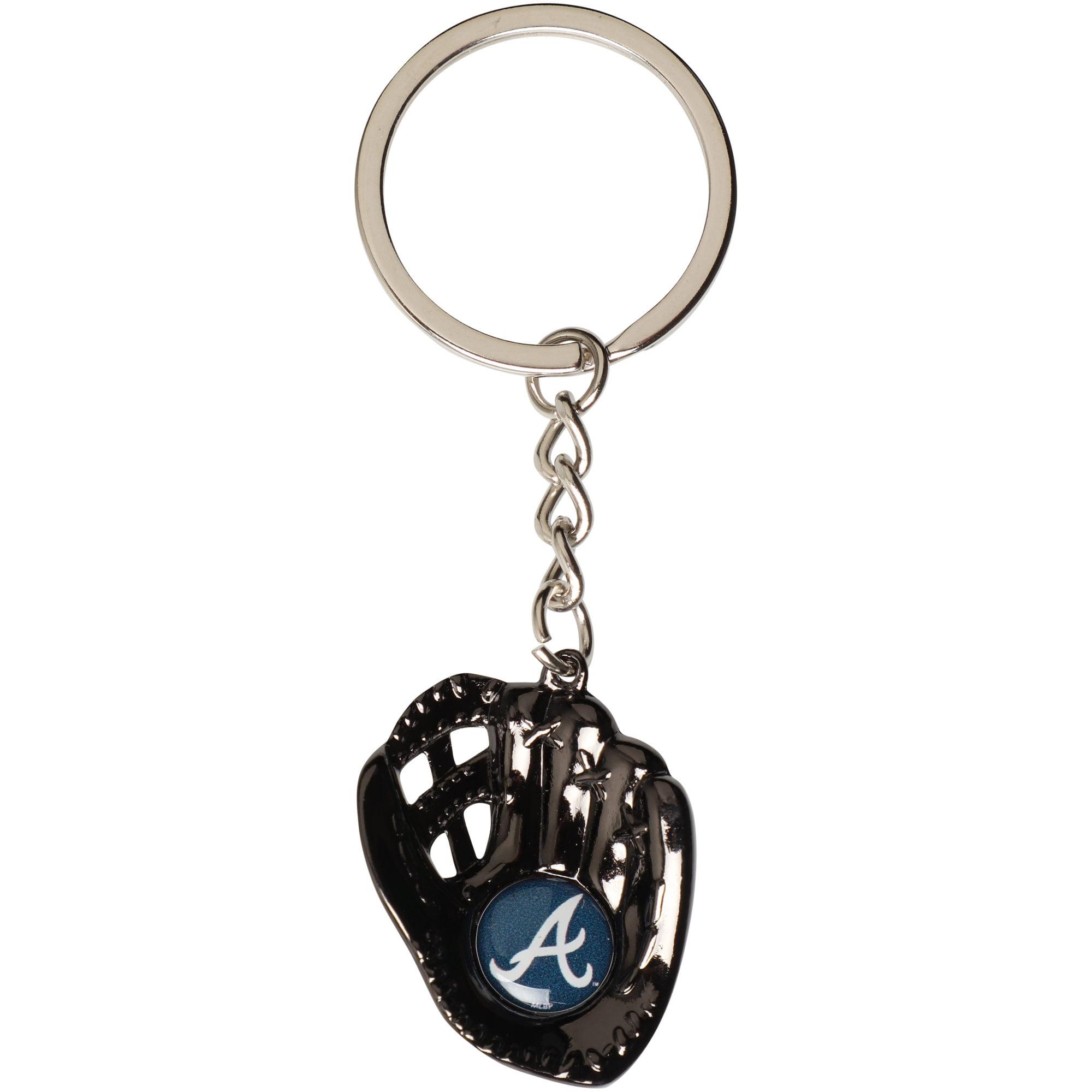 Atlanta Braves Baseball Glove Team Keychain - No Size