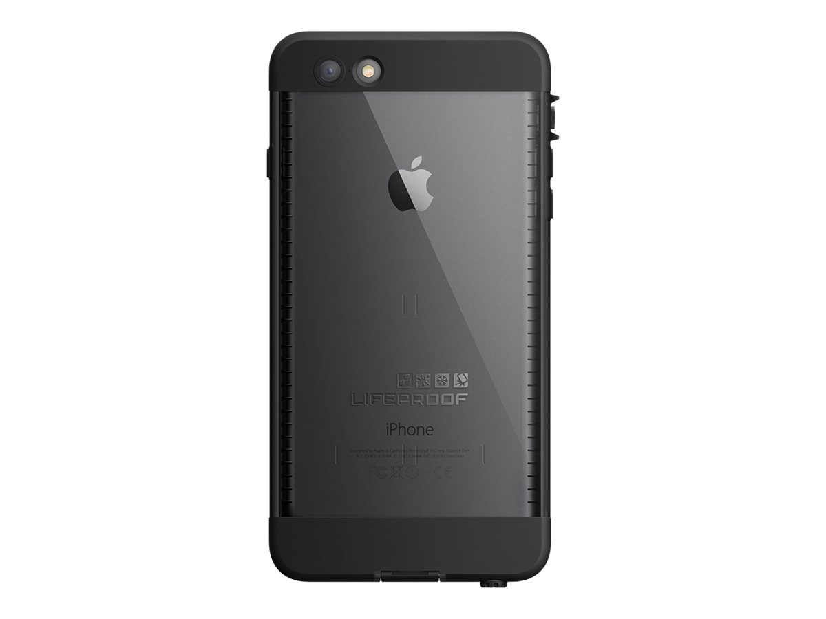 sports shoes e3194 769eb LifeProof NÜÜD Apple iPhone 6 Plus - Protective waterproof case for cell  phone - black, smoke - for Apple iPhone 6 Plus
