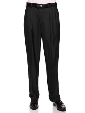 05ebdf16e276 Product Image Giovanni Uomo Mens Pleated Front Dress Pants With Hidden  Expandable Waist
