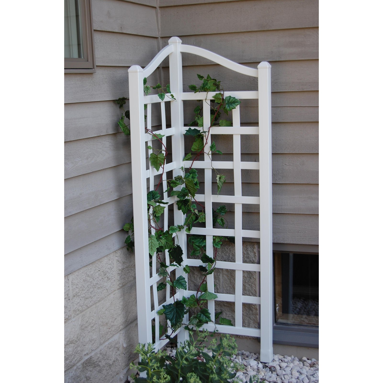 Dura-Trel Oxford 5.5-ft. Vinyl Corner Trellis by Trellisses