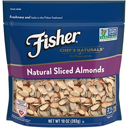 Almond Slices (Fisher Natural Sliced Almonds, Non-GMO, No Preservatives, 10)