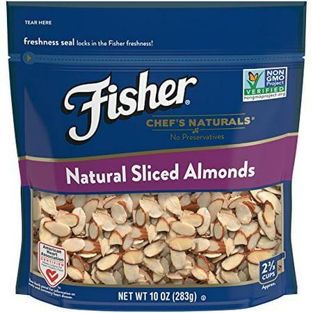 Fisher Natural Sliced Almonds, Non-GMO, No Preservatives, 10 (Tagua Nut Slices)
