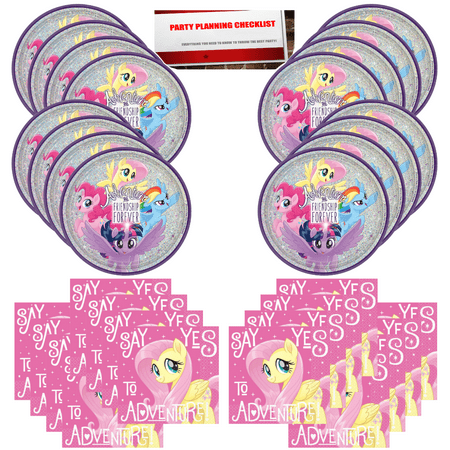 My Little Pony Birthday Party Supplies Bundle Pack for 16 Plus Party Planning Checklist by Mikes Super Store