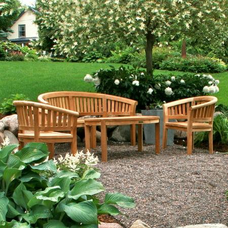 Anderson Teak Curve 4 Piece Conversation Set (Anderson Teak Garden Furniture)