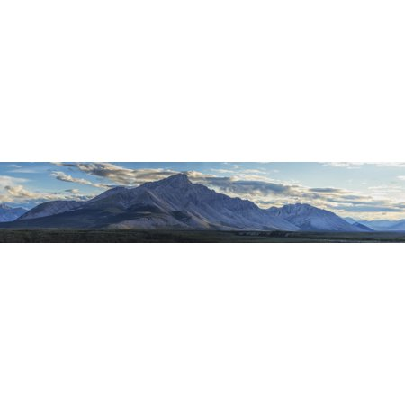 Panoramic Image Of Royal Mountain Along The Wind River Peel Watershed Yukon Canada Posterprint