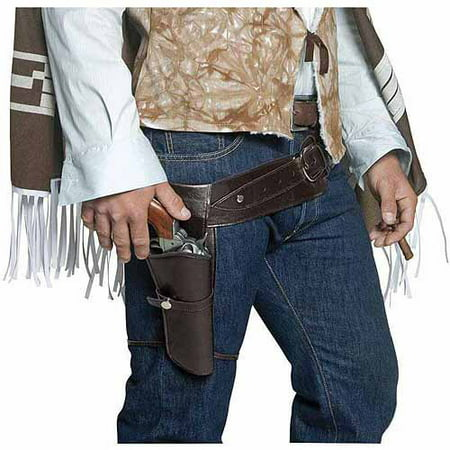 Authentic Man Of Steel Costume (Authentic Western Gunman Belt and Holster Adult Halloween Costume)