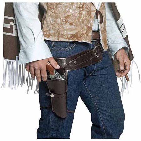 Western Saloon Halloween Costumes (Authentic Western Gunman Belt and Holster Adult Halloween Costume)