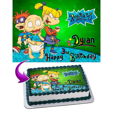 Rugrats Edible Image Cake Topper Personalized Icing Sugar Paper A4 Sheet Edible Frosting Photo Cake 1/4 Edible Image for cake
