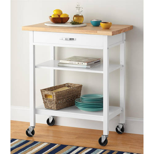 Mainstays Multifunction Kitchen Cart, White