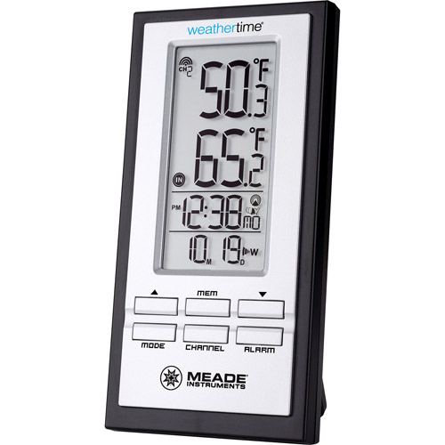 Meade TE278W Wireless Indoor/Outdoor Thermometer with Atomic Clock