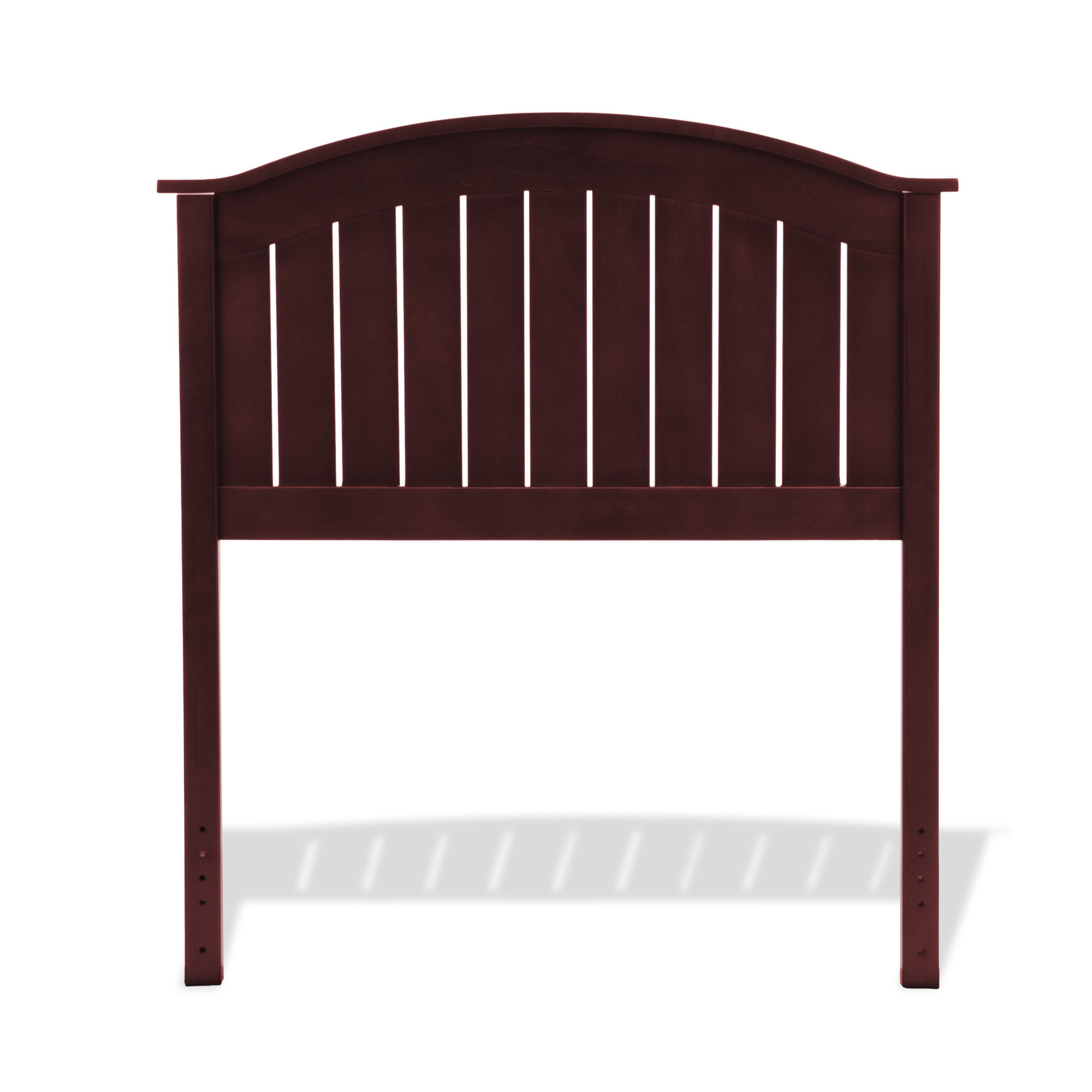 finley wooden headboard panel with curved top rail design, merlot, Headboard designs