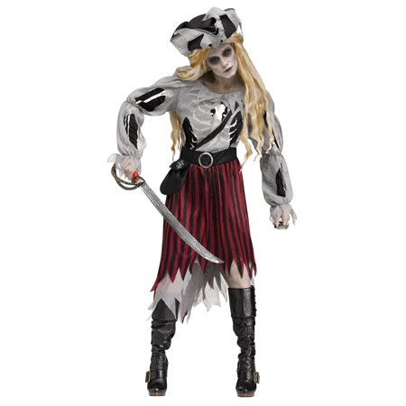 ZOMBIE PIRATE QUEEN ADULT WOMENS - Zombie Prom Queen