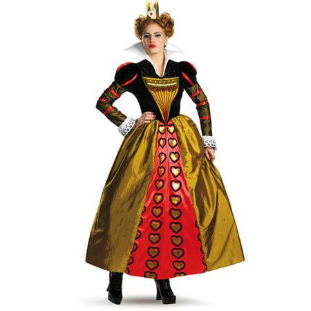 Alice in Wonderland Red Queen Adult Halloween Costume - Walmart.com