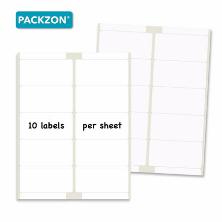 Self Adhesive Labels (PACKZON Shipping Labels with Self Adhesive, Rounded Corner, For Laser & Inkjet Printers, 2 x 4 Inches, White Matte, Pack of 1000)