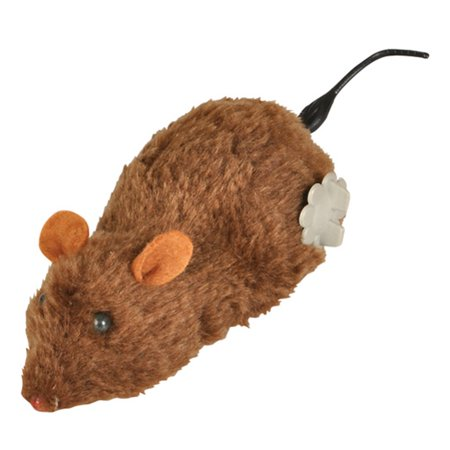 Brown Windup Wind Up Prank Animal Lab Mouse Rat Toy (Browns Rat Mouse)
