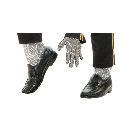 New Michael Jackson Costume Glitter Leggings & Glove Set](Michael Jacksons Glove)