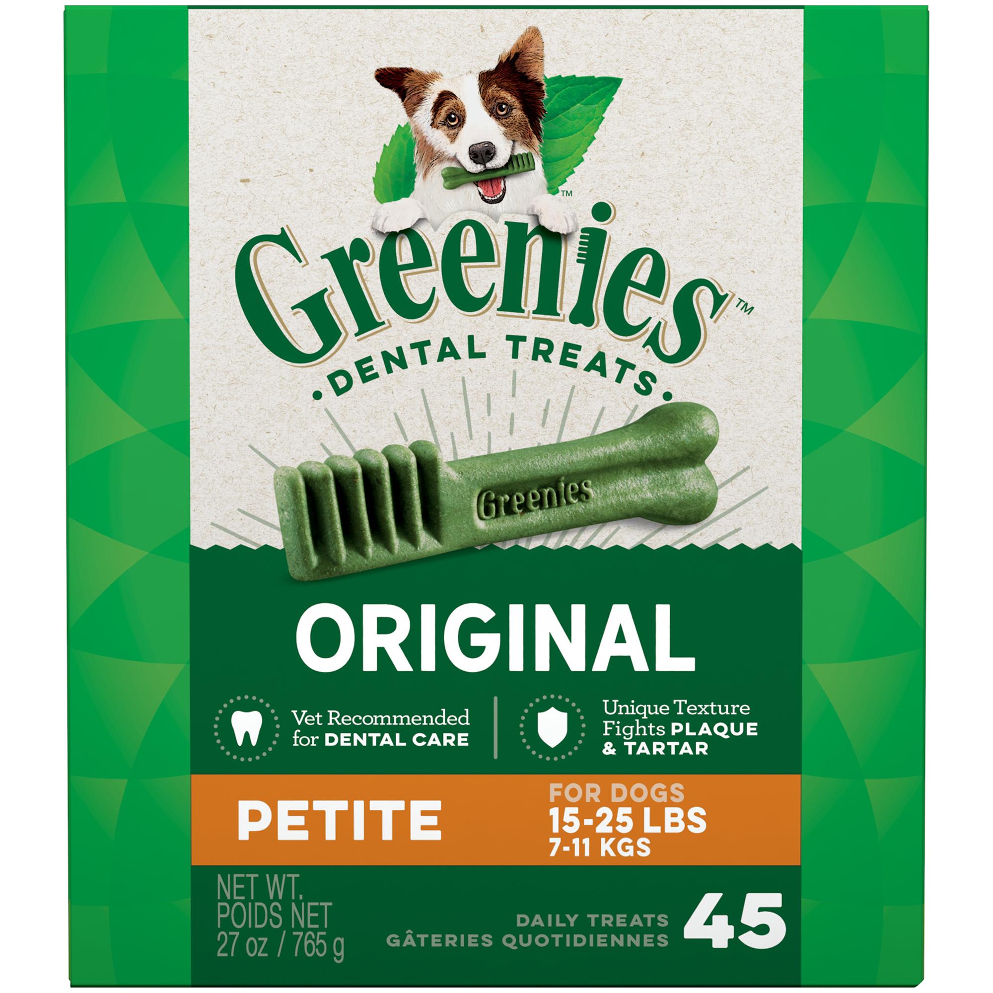 Greenies Original Petite Dental Dog Treats, 27 oz. Pack (45 Treats)