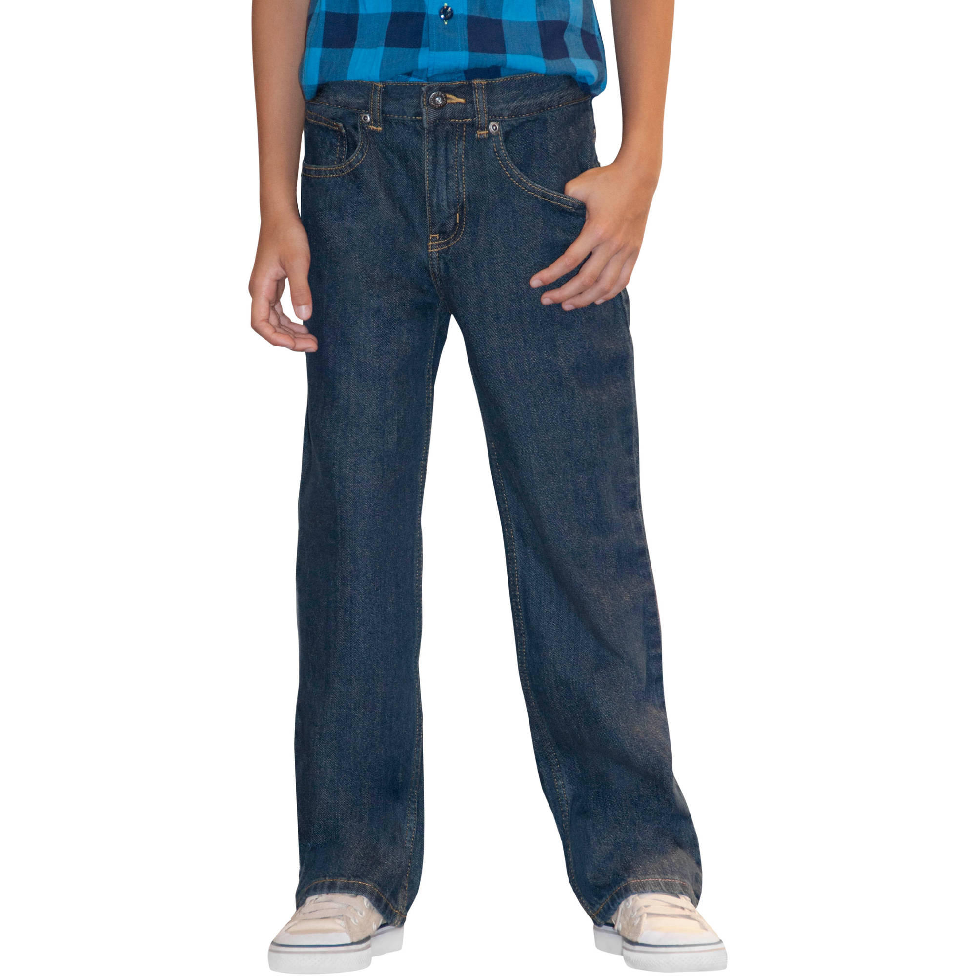 Faded Glory Husky Boys' Relaxed Jeans