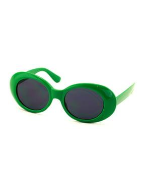 4dd5ec25dab Product Image V.W.E. Vintage Sunglasses UV400 Bold Retro Oval Mod Thick  Frame Sunglasses Clout Goggles with Dark Round