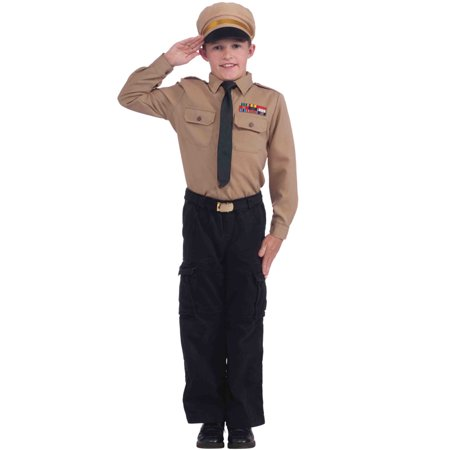 Instant Army General Child Costume Kit (M) (Kids Army Kit)