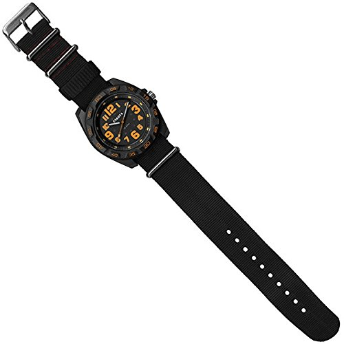 Dakota Watches EL Field Sport, Black/Orange Dial, w/Black Strap, NO
