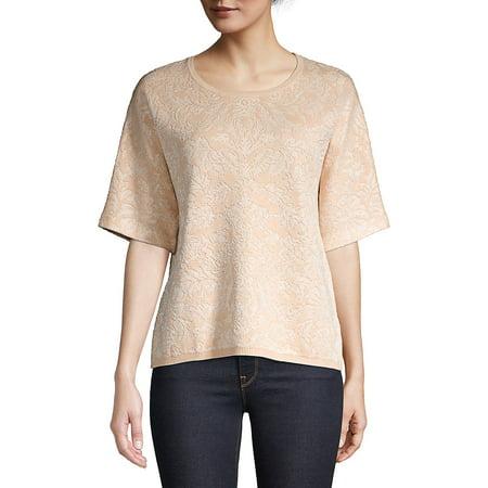 Textured Cotton Blend Top