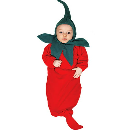Chili Pepper Bunting Infant Halloween Costume - Halloween Bunting Crochet Pattern
