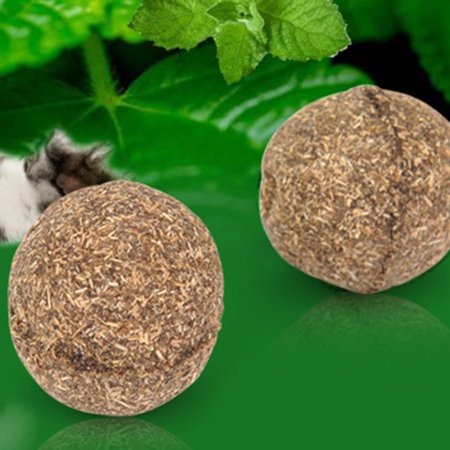 Cheers 1Pc Natural Catnip Healthy Funny Treats Ball Pet Kitten Cat Playing Relaxing Toy - image 7 of 7