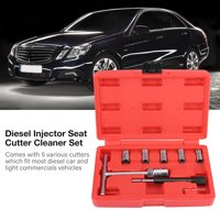 EECOO Injector Seat Cutter,7Pcs Diesel Injector Seat Cutter Cleaner Set Universal Injector Re-Face Tool Kit,Diesel Injector Seat Cutter