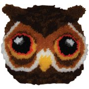 "M C G Textiles 36209 Huggables Shaped Pillow Latch Hook Kit 12""X12"" - Owl"