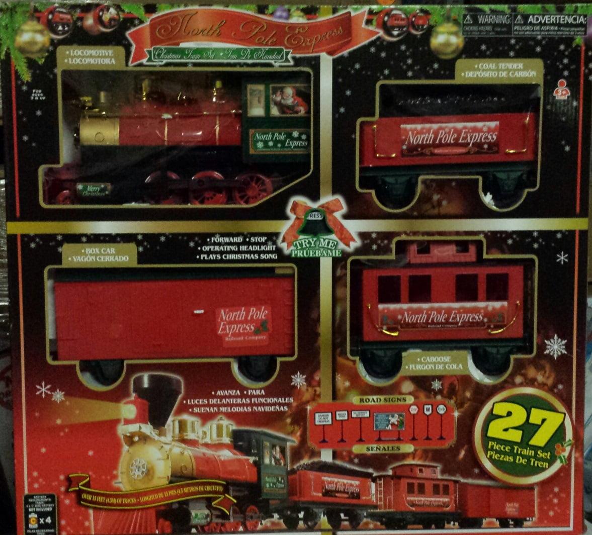 North Pole Express Christmas 27-Piece Train Set - Walmart.com