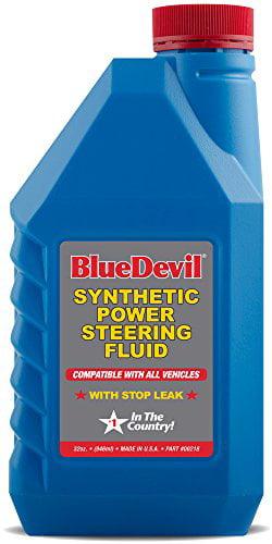 Blue Devil Synthetic Power Steering Fluid (32 oz) by Blue Devil