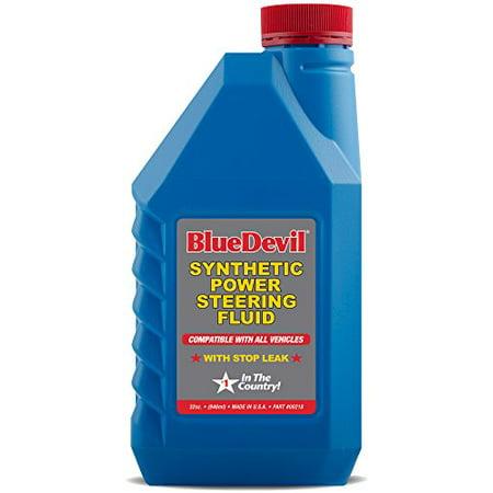 Blue Devil Synthetic Power Steering Fluid (32 oz) (Blue Devil Power Steering Stop Leak Halfords)