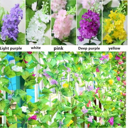 - 1Pcs 2.4m/7.8ft Artificial Fake Silk Flower Garland Artificial Vine Ivy Flowers Garland Home Wedding Garden Deco