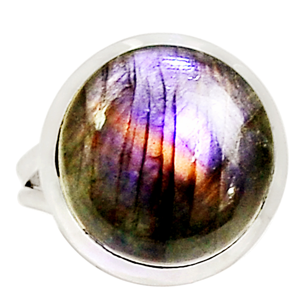 XTREMEGEMS Purple Labradorite 925 Sterling Silver Ring Jewelry s.7.5 10607R